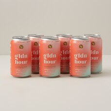 gldn hour 6-pack collagen-infused sparkling water strawberry mint