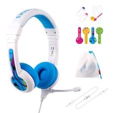 BuddyPhones School+ casque d'écoute Bleu