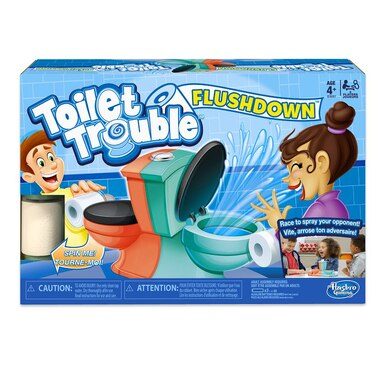 Hasbro® Board Game Toilet Trouble Flushdown Fast-Paced Water Spray Game
