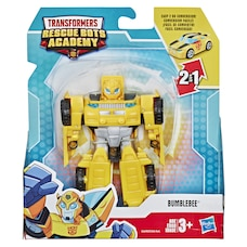 Playskool Heroes Transformers Rescue Bots Academy Bumblebee Converting Toy Robot, 4.5-Inch Action…