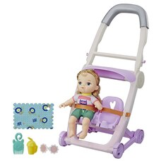 Baby Alive Littles Roll n Kick Stroller and Doll Blonde Hair