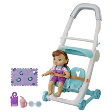 Baby Alive Littles Roll n Kick Stroller and Doll Brown Hair