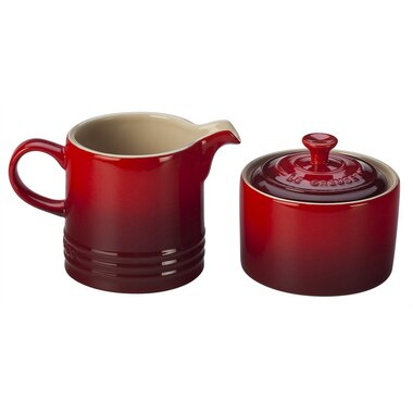 Cream & Sugar Set - Cerise