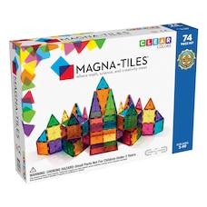 Ensemble Magna-Tiles 74 pièces de couleurs claires