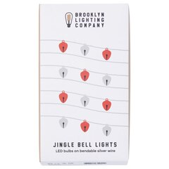 Brooklyn Lighting Company Jingle Bell LED Wire Lights - Red And Silver