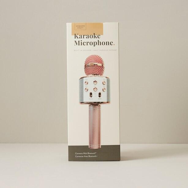 Common Craft Karaoke Microphone Rose Gold