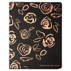 Journal gaufré — Random Musings, Motif floral, Gris