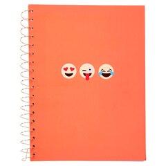 Spiral Notebook - Emoji, Coral