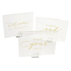 Style Me Pretty Acrylic Sign Set of 3