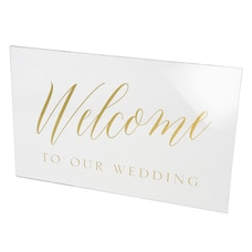 Style Me Pretty Acrylic Welcome Sign