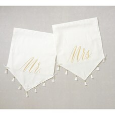 Style Me Pretty Chair Signs Mr/Mrs Set of 2