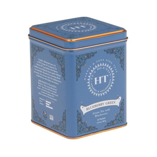Sachets de thé vert bleuet