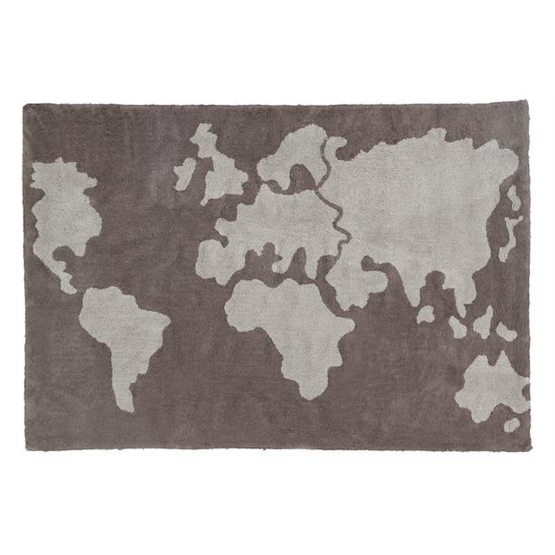 Lorena Canals Washable Rug - Grey Map