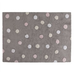 Lorena Canals Washable Rug - Tricolour Dots - Grey Pink