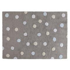 Lorena Canals Washable Rug - Tricolour Dots - Grey Blue