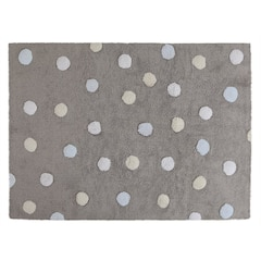 Lorena Canals Washable Rug - Tricolour Dots - Grey Blue