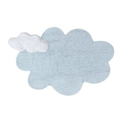 LORENA CANALS WASHABLE PUFFY PILLOW & RUG, DREAM BLUE