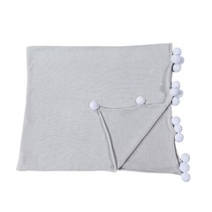 LORENA CANALS BUBBLY BLANKET, LIGHT GREY