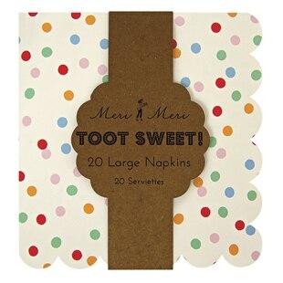 Toot Sweet Spotty Napkin – Large