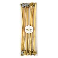 Meri Meri Gold & Silver Party Swizzle Sticks, Set of 12