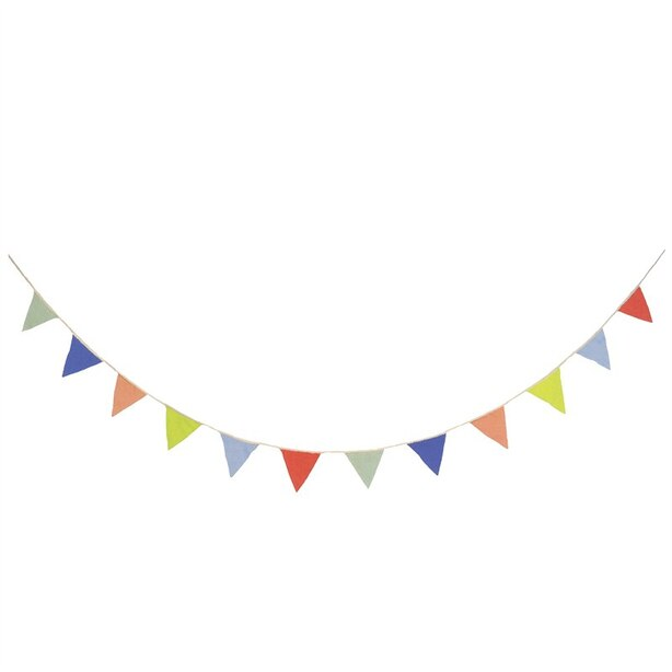 Meri Meri Flag Pennant Garland Organic Cotton Multicolour