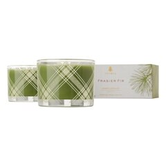 Thymes® Frasier Fir Plaid Poured Candle Set