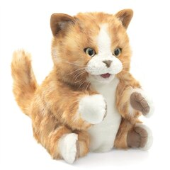 Folkmanis Orange Tabby Kitten Puppet