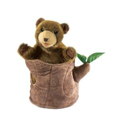 Folkmanis Bear In Tree Stump Puppet