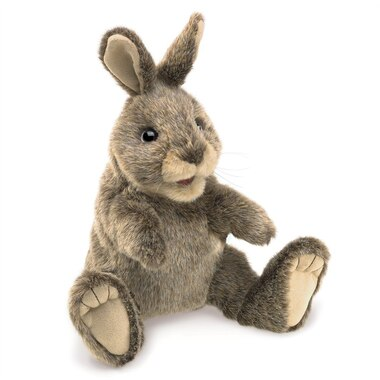 Folkmanis® Puppet Cottontail Rabbit Small