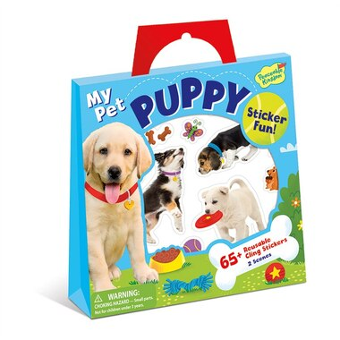 Peaceable Kingdom Reusable Sticker Tote My Pet Puppy
