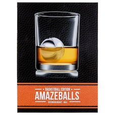 BASKETBALL AMAZEBALLS DRINK CHILLERS SET OF 2 WITH TONGS