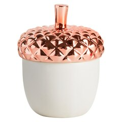 Copper Leaves Ceramic Candle