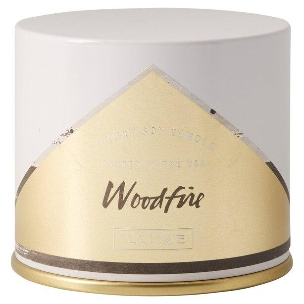 ILLUME® Vanity Tin Candle – Woodfire