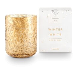 ILLUME BOXED GLASS CANDLE WINTER WHITE