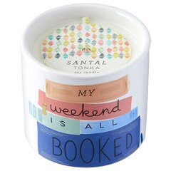 Stackable Book Candle – My Weekend Is All Booked