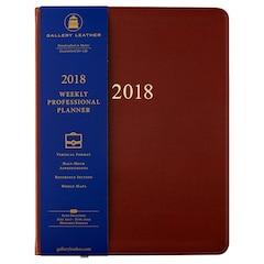 Agenda Gallery Leather Co 2018 de 12 mois — Brun Cambridge