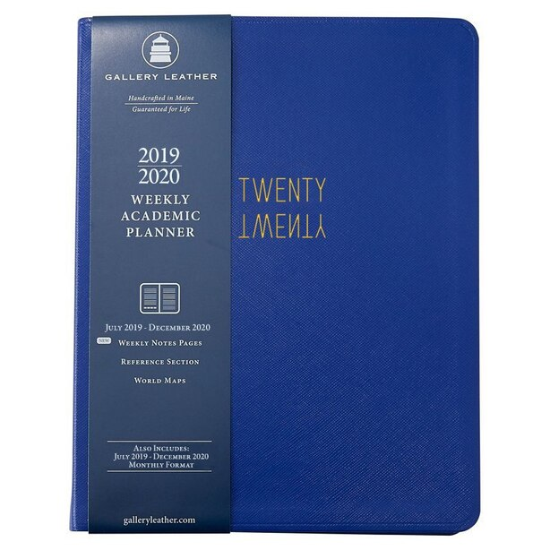 2019-2020 18-Month Weekly Academic Planner Bright Blue