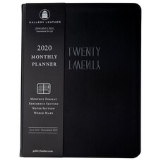 2019-2020 18-Month Monthly Planner Black
