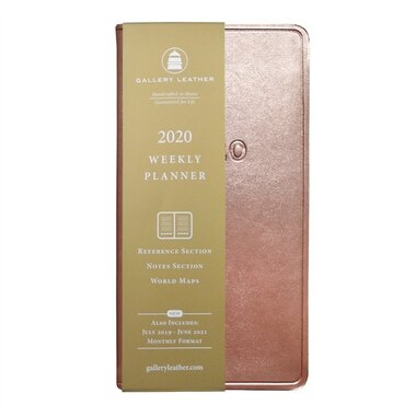 Gallery Leather 2020 12-MONTH POCKET AGENDA METALLIC ROSE GOLD