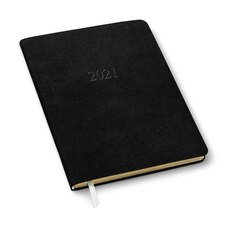 2020-2021 18-Month Planner Black Leather