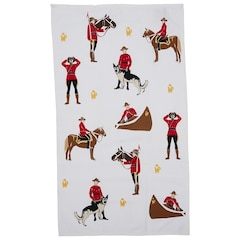 HORSE AND MOUNTIE TEA TOWEL – NATURAL