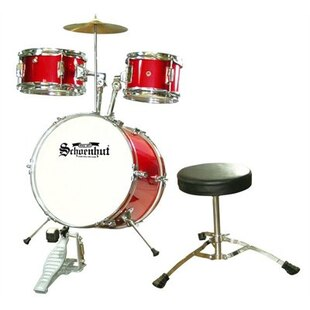 Junior 5 Piece Drum Set Red