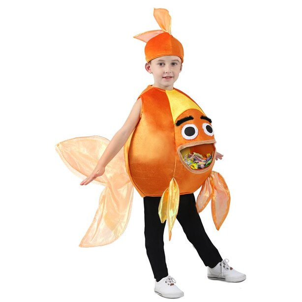 Kids Costume Feed Me Beta Fish Size XS/S