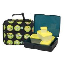 1a7e0b09b416 Bentology Complete Lunch Box Set Emoji Sleeve   Night Pear Bento Box