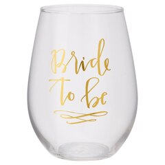 Slant Collections Stemless Wine Glass – Bride to Be