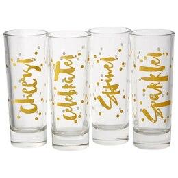 Slant Collections Celebrate Shot Glasses – Set of 4