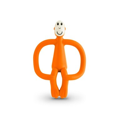 Matchstick Monkey Teether Toy, ORANGE