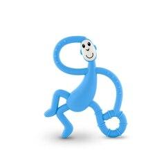 Matchstick Monkey Dancing Monkey Teether, LIGHT BLUE
