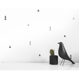 small triangle wall decal gray
