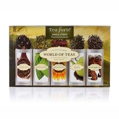 Assortiment de thés Tea Forte ® pour tasse individuelle –Thés du monde